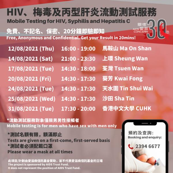 HIV流動測試愛滋病病毒